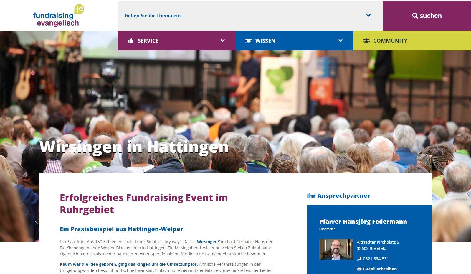 """Das Projekt """"fundraising-evangelisch"""""""