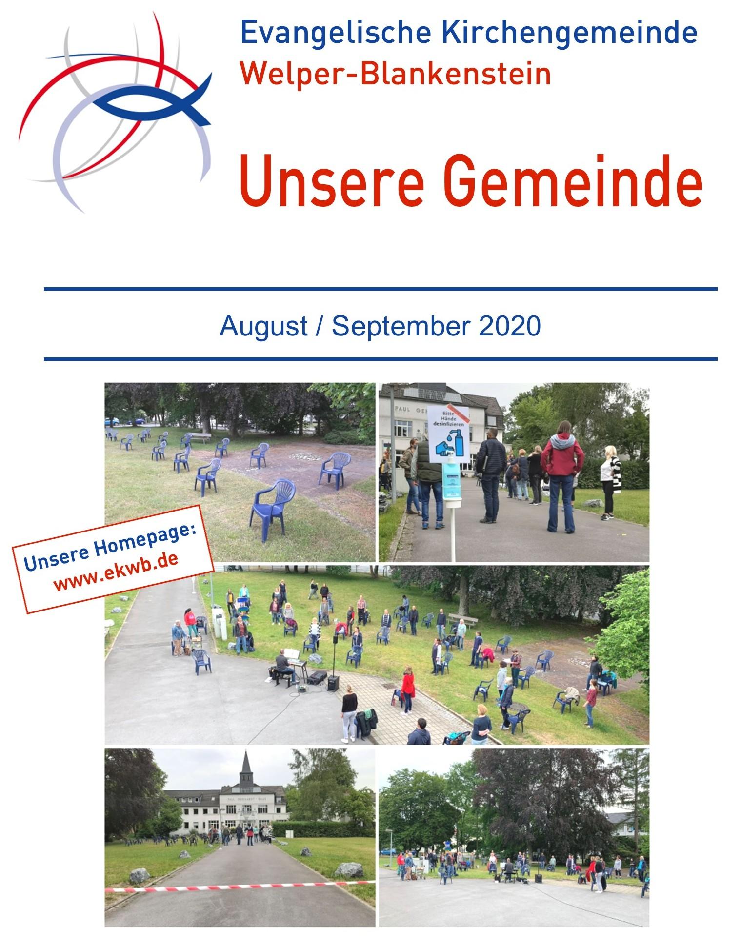 Gemeindebrief August 2020 / September 2020