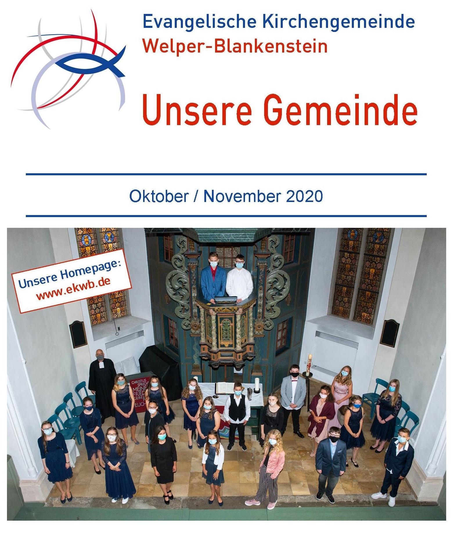 Gemeindebrief Oktober 2020 / November 2020
