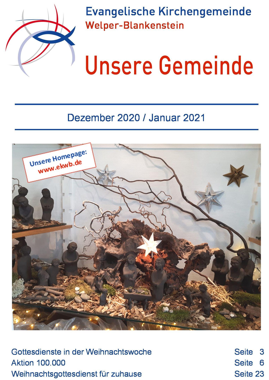 Gemeindebrief Dezember 2020 / Januar 2021