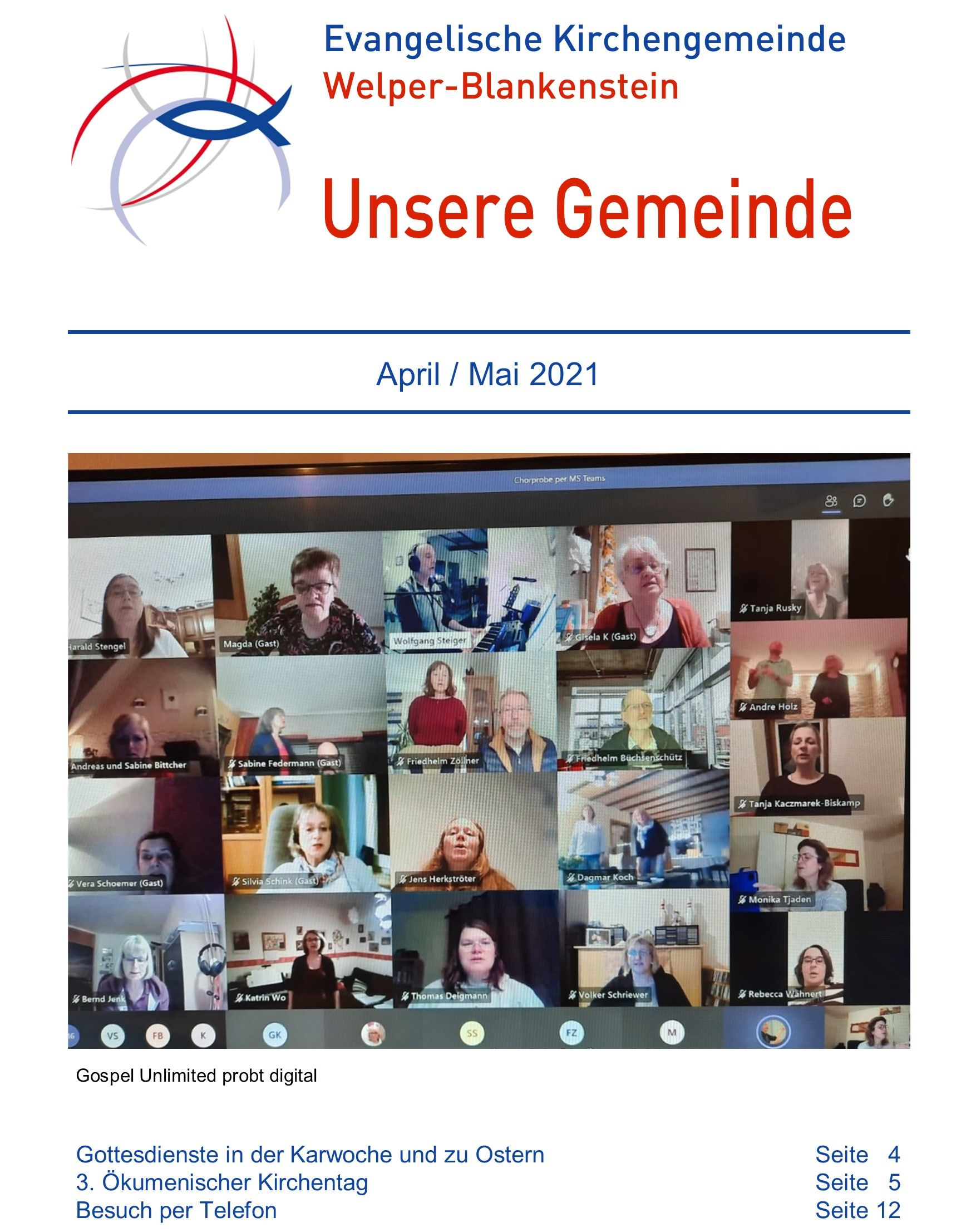 Gemeindebrief April / Mai2021