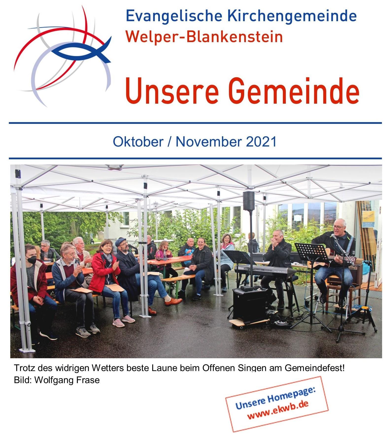 Gemeindebrief Oktober / November 2021